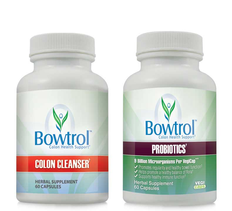 Bowtrol Probiotic & Bowtrol Colon Cleanser Combo Pack